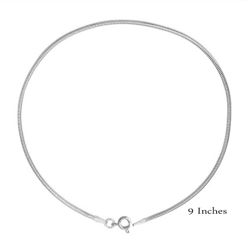 Wholesale Sterling Silver 925 Snake Round 1.2mm Anklet - CHA730