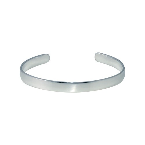 Wholesale Sterling Silver 925 Rhodium Plated Open Baby Bangle - ANB00003