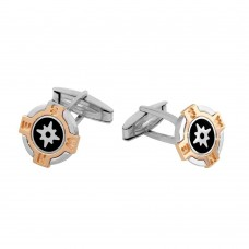 Wholesale Sterling Silver 925 Tri-Color Compass Cuff Links - ARC00011
