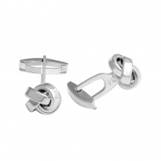 Wholesale Sterling Silver 925 Plain Knot Cufflink - ARC00012