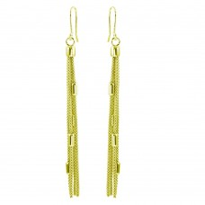 Wholesale Sterling Silver 925 Gold Plated Tassel Earrings - ARE00011GP