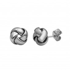 Wholesale Sterling Silver 925 Rhodium Plated Knot Stud Earrings - ARE00024RH