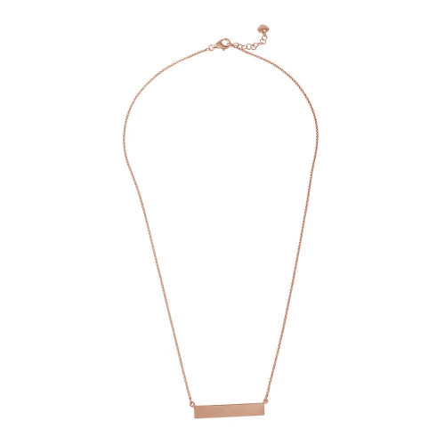 Wholesale Sterling Silver 925 Rose Gold Plated Bar Necklace - ARN00029RGP