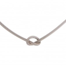 Wholesale Sterling Silver 925 Knotted Chain Necklace - ARN00052RH