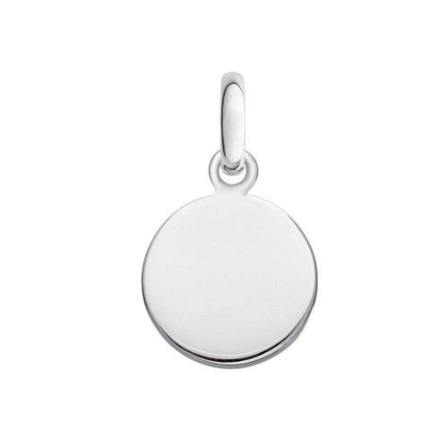 Wholesale Sterling Silver 925 High Polished Engravable Disc Charm 18mm - ARP00025