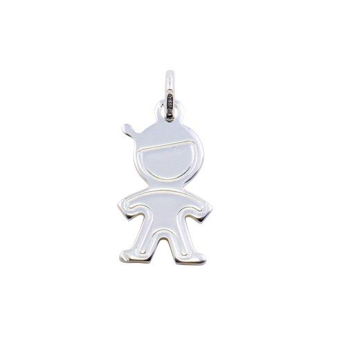Wholesale Sterling Silver 925 Rhodium Plated Boy Pendant - ARP00044