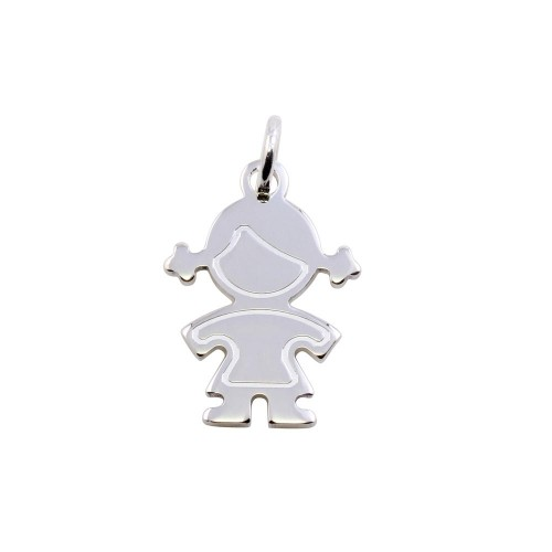 Wholesale Sterling Silver 925 Rhodium Plated Girl Pendant - ARP00045