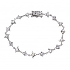 Wholesale Sterling Silver 925 Gold Plated CZ Tennis Link Bracelet - BGB00314