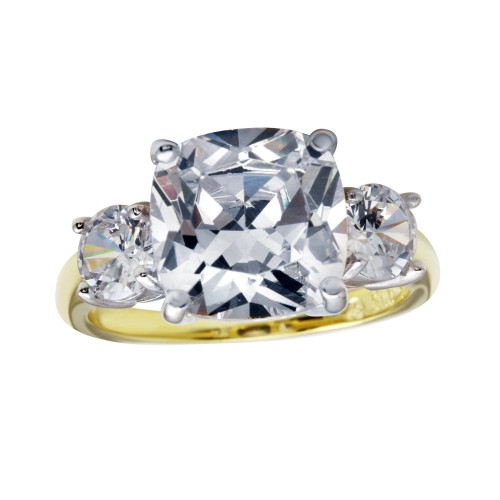 Wholesale Sterling Silver 925 Gold Plated Past Present Future Ring - BGR01220GP