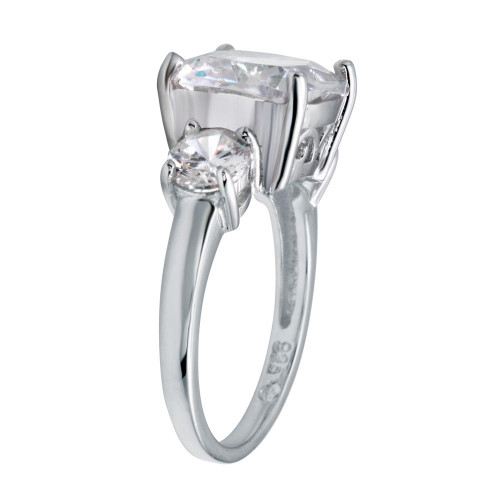 Wholesale Sterling Silver 925 Rhodium Plated Past Present Future Ring - BGR01220RHD