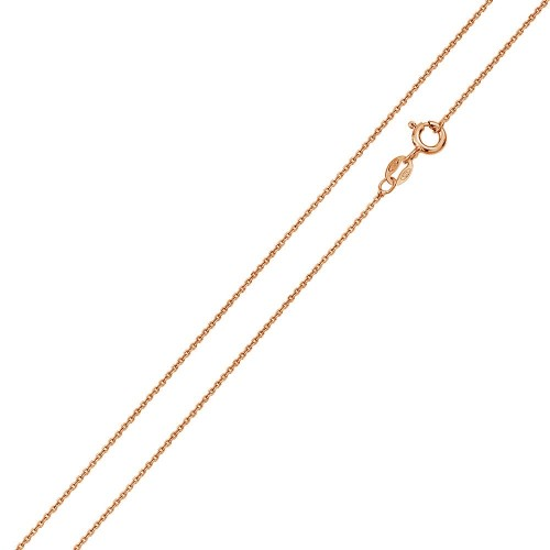 Wholesale Sterling Silver 925 Rose Gold Plated Cable 020 Chain 1mm - CH170 RGP