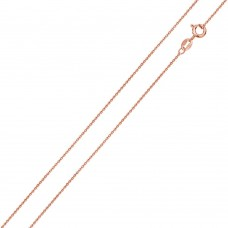 Wholesale Sterling Silver 925 Rose Gold Plated Anchor 025 Chain 1mm - CH182 RGP