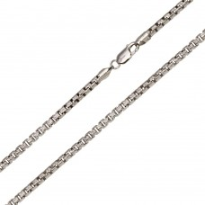 Wholesale Sterling Silver 925 Rhodium Plated Diamond Cut Slash Round Box Chains 3.1mm - CH212D RH