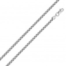 Wholesale Sterling Silver 925 Rhodium Plated Round Box Chain 3.2mm - CH219D RH