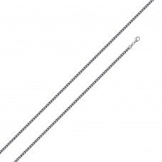 Wholesale Sterling Silver 925 Rhodium Plated Franco 100 Chain 1.1mm - CH318A RH