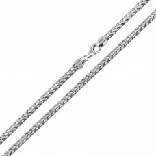 Wholesale Sterling Silver 925 Rhodium Plated Franco 300 Chain 3mm - CH321 RH