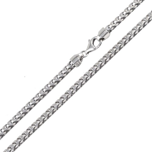 Wholesale Sterling Silver 925 Rhodium Plated Franco 420 Chain 4.2mm - CH323 RH