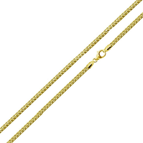 Wholesale Sterling Silver 925 Gold Plated Franco 040 Chain 1.8mm - CH337B GP
