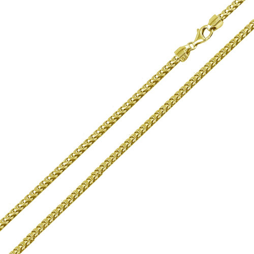 Wholesale Sterling Silver 925 Gold Plated Franco Chain 2.2mm - CH337C GP
