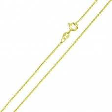 Wholesale Sterling Silver 925 Gold Plated Anchor 025 Chain 0.9mm - CH364B GP