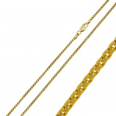 Wholesale Sterling Silver 925 Gold Plated Round Box 035 Chain 1.7mm - CH370 GP
