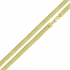Wholesale Sterling Silver 925 14K Gold Plated Herring Bone 040 Chain 3.2mm - CH383 GP
