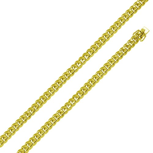 Wholesale Sterling Silver 925 Rhodium Plated Miami Cuban Chain 9mm - CH434 GP