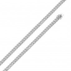 Wholesale Sterling Silver 925 Rhodium Plated Miami Curb Chain 7mm - CH438 RH