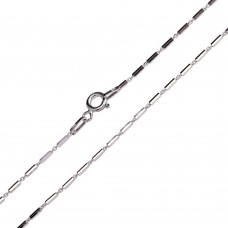 Wholesale Sterling Silver 925 Rhodium Plated Multi 6 Sided Diamond Cut Tube Link Chains 1.2mm - CH453 RH
