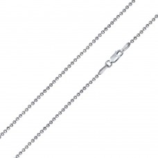 Wholesale Sterling Silver 925 Diamond Cut Bead 180 Chains 1.8mm - CH503