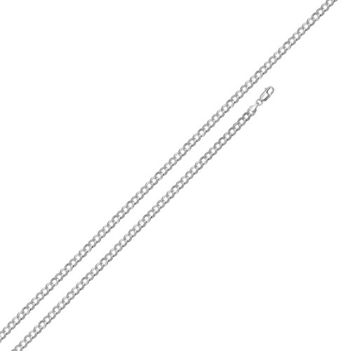 Wholesale Sterling Silver 925 Super Flat High Polished Curb 060 Chain 2.1mm - CH614