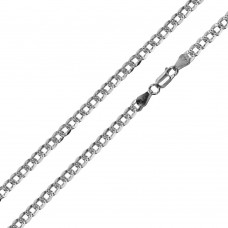 Wholesale Sterling Silver 925 Super Flat High Polished Diamond Cut Curb 080 Chain 2.8mm - CH626