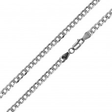 Wholesale Sterling Silver 925 Super Flat High Polished Diamond Cut Curb 120 Chain 4.5mm - CH628