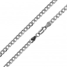Wholesale Sterling Silver 925 Super Flat High Polished Diamond Cut Curb Chain 5mm - CH629