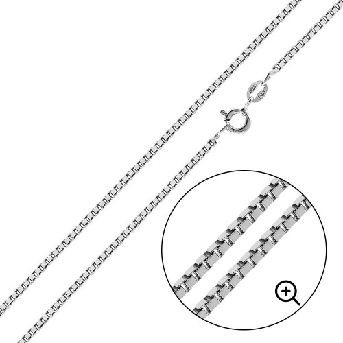 Wholesale Sterling Silver 925 High Polished Box 019 Chain 1mm - CH735