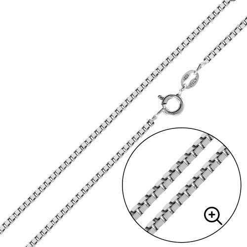 Wholesale Sterling Silver 925 High Polished Box 024 Chain 1.3mm - CH736