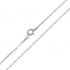 Wholesale Sterling Silver 925 Flat Oval Link Chain 1.4mm - CH739 RH