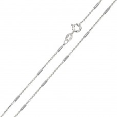 Wholesale Sterling Silver 925 Diamond Cut Tube Link Chains 1.3mm - CH740