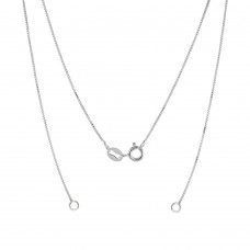 Wholesale Sterling Silver 925 High Polished Charm Necklace Replacement Box Chain 0.6mm - CH821