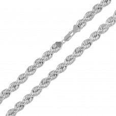 Sterling Silver Hollow Rope Chains 6.5mm - CHHW112