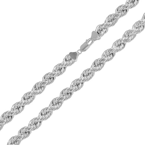 Wholesale Sterling Silver 925 Hollow Rope Chains 6.5mm - CHHW112