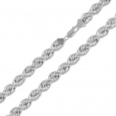 Sterling Silver Hollow Rope Chains 8mm - CHHW113