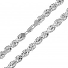 Sterling Silver Hollow Rope Chains 9.5mm - CHHW114