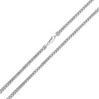 Wholesale Sterling Silver 925 Rhodium Plated Round Franco Chain 2.9mm - CH934 RH