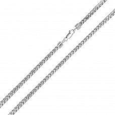 Wholesale Sterling Silver 925 Rhodium Plated Round Franco Chain 3.2mm - CH935 RH