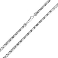 Wholesale Sterling Silver 925 Rhodium Plated Round Franco Chain 3.9mm - CH936 RH