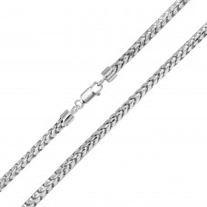 Wholesale Sterling Silver 925 Rhodium Plated Round Franco Chain 4.5mm - CH937 RH