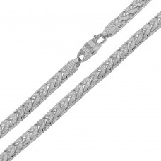 Wholesale Sterling Silver 925 Rhodium Plated CZ Encrusted Franco Chains 7mm - CHCZ103 RH