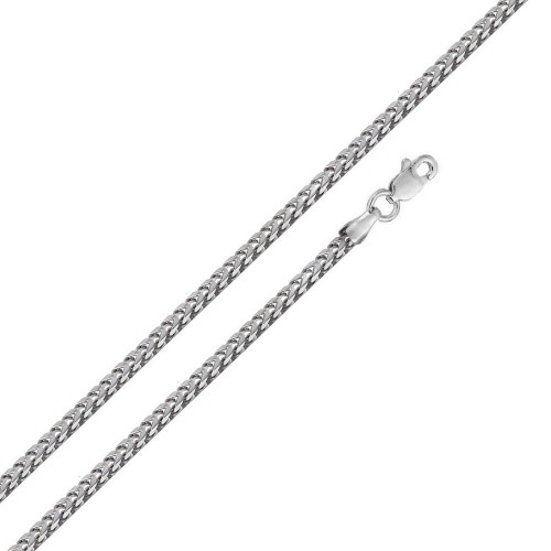 Wholesale Sterling Silver 925 Rhodium Plated Hollow Round Franco Chain 2.7mm - CHHW120 RH