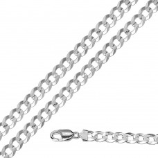 Wholesale Sterling Silver 925 Super Flat High Polished Curb 200 Chain 7.7mm - CH619A